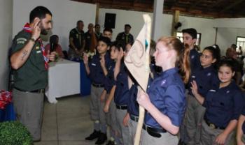 Promessa de Escoteiros<br>Foto: Grupo Escoteiro Guardiões das Águas